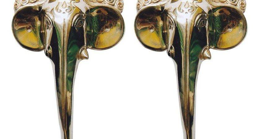 Aakrati Elephant Face Door Handle Pair Best Price India