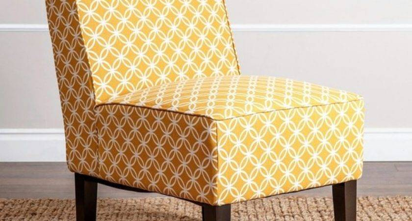 Abbyson Living Sasha Mustard Yellow Fabric Slipper Chair