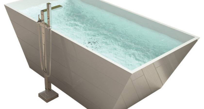 Adm White Stand Alone Solid Surface Stone Resin Bathtub
