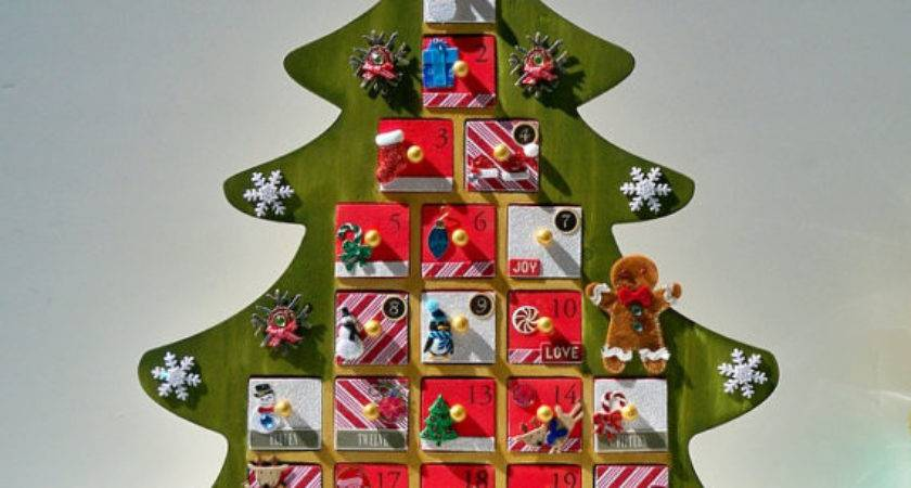 Advent Calendar Personalized Christmas Wooden