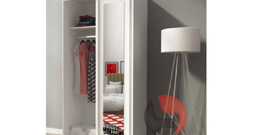 Alaska White Sliding Door Wardrobe Mirror
