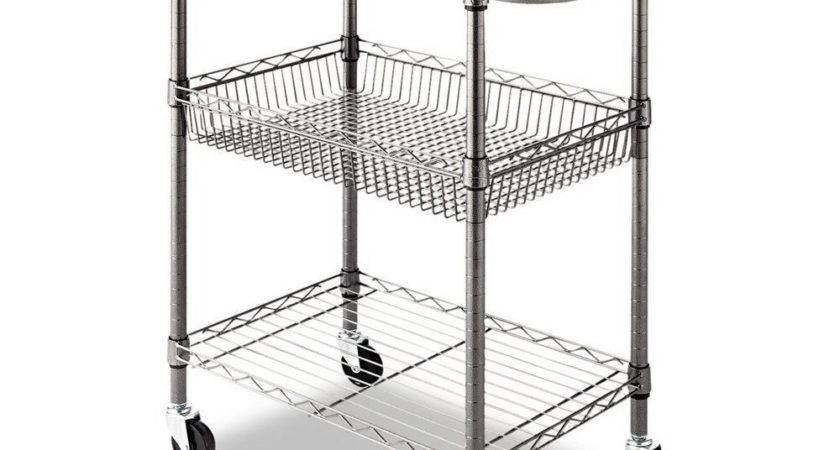 Alera Cart Wire Rolling Kitchen Utility Food Service