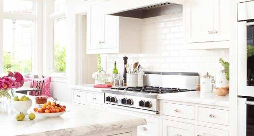 All White Kitchen Transitional Bhg
