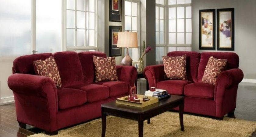 Amazing Living Room Decorating Ideas Red Velvet Sofa