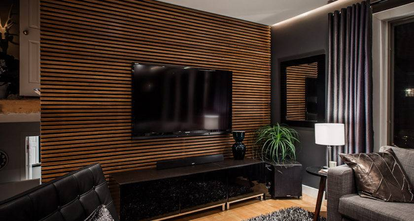 Amazing Simple Amusing Textured Wooden Living Room Wal