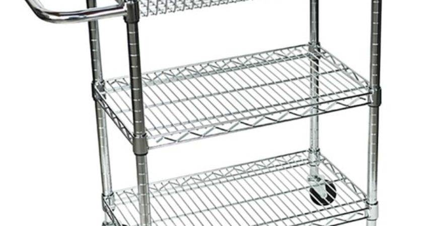 Amazing Wire Kitchen Cart Rolling Small Shelf