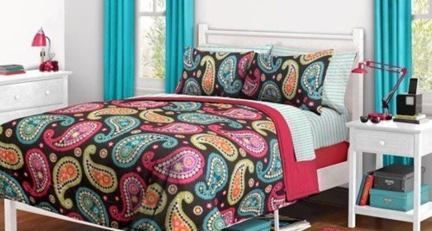 Amazon Girl Orange Aqua Teal Comforter Set