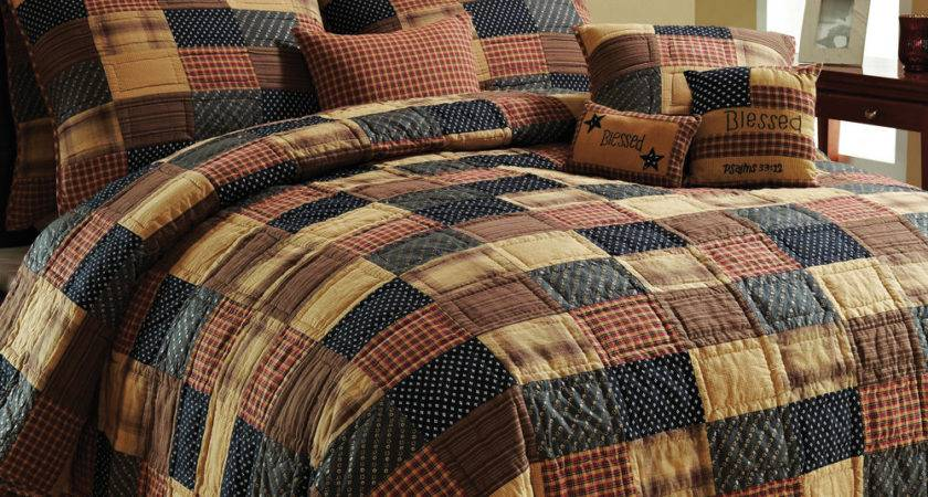 American Brown Twin Queen Cal King Patchwork Quilt