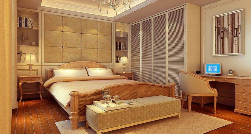American Modern Bedroom Interior Design Rendering