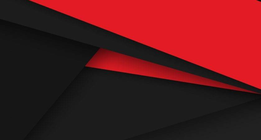 Android Lollipop Red Black Abstract Material Design Line