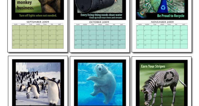 Animal Themed Month Calendar Marketing Products