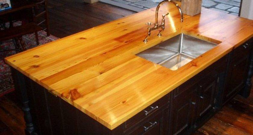 Antique Heart Pine Island Top Natural Color
