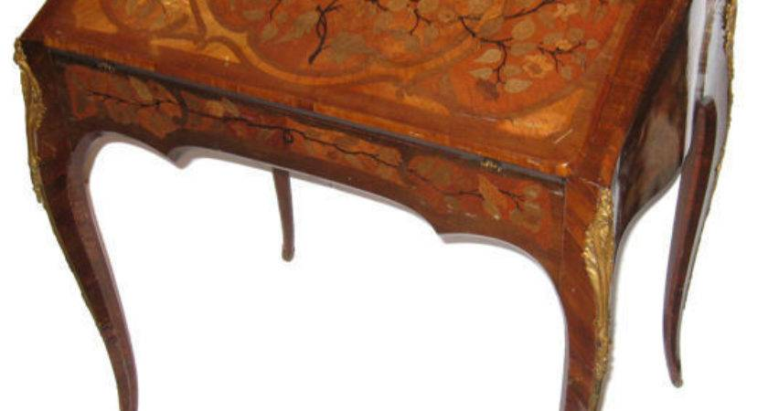 Antique Louis Style Ladies Writing Marquetry Desk Ebay
