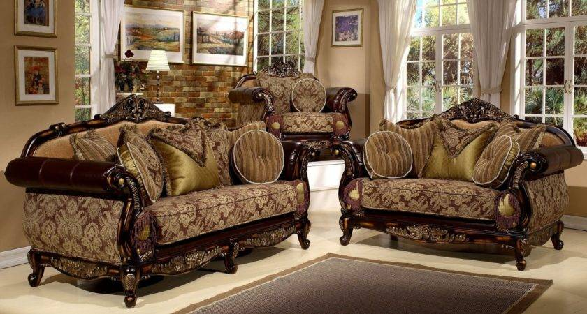 Antique Style Pieces Living Room Sofa Set Hollywood