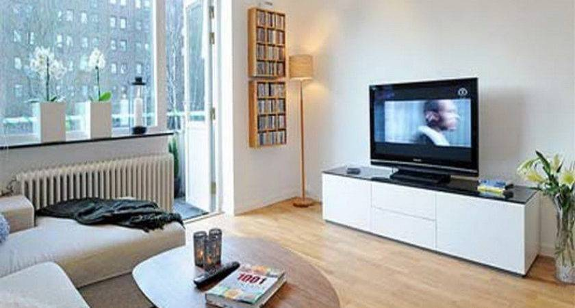 Apartment White Inspire Small Living Room