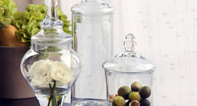 Apothecary Jars Set Eclectic Bathroom Canisters