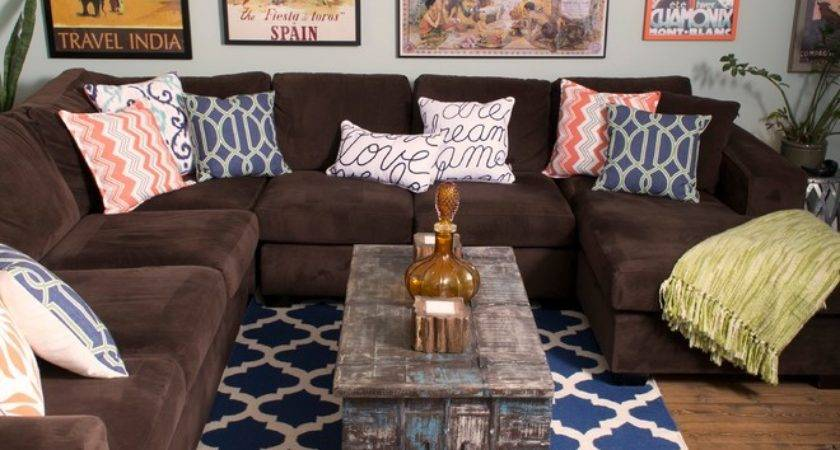Area Rug Brown Couch Ehsani Fine Rugs