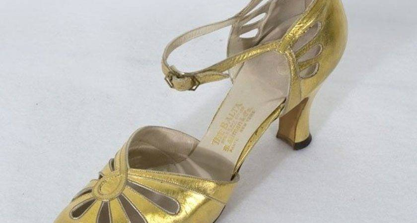 Art Deco Shoes Silver Gold Bridal Weddings