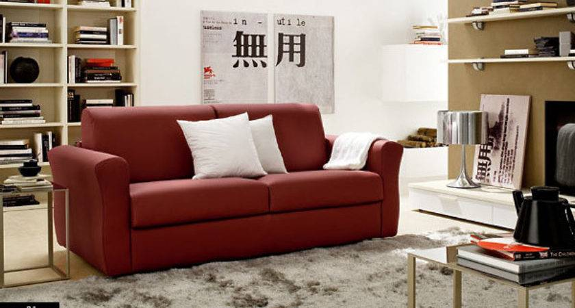 Asian Influenced Living Room Red Leather Sofas