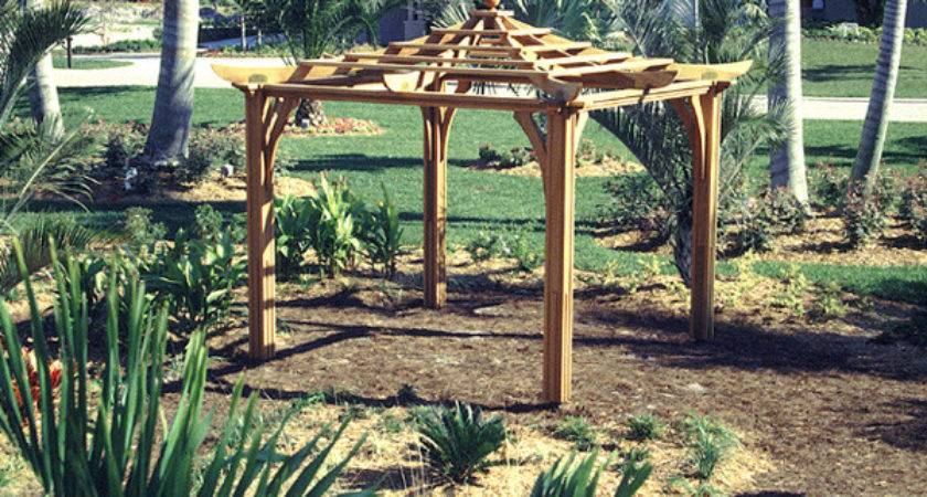 Asian Style Pergola Trellis Structures Barb Homes