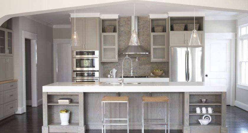 Astonishing Grey Kitchen Cabinets Futuristic Color
