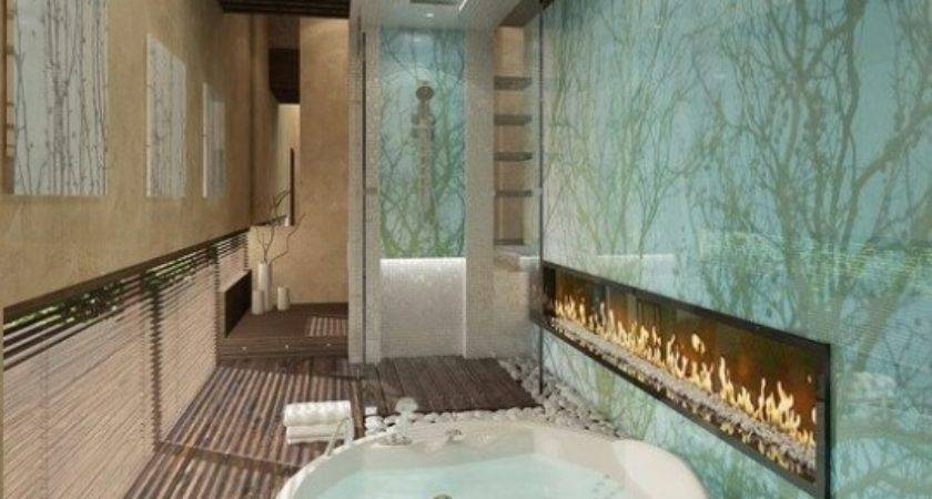 Awesome Bathroom Fireplace Designs