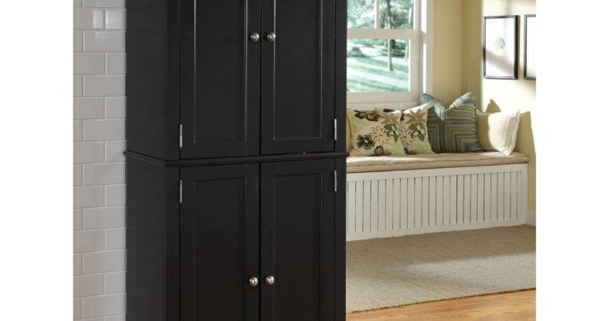Awesome Black Pantry Cabinet Home Americana