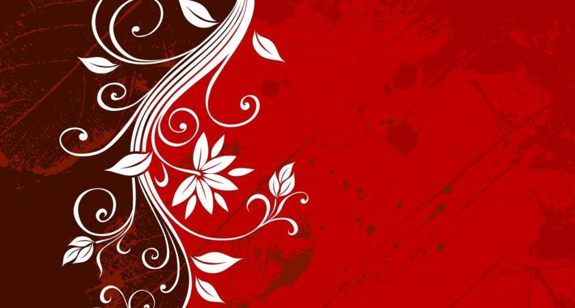 Awesome Flowery Design Dark Red