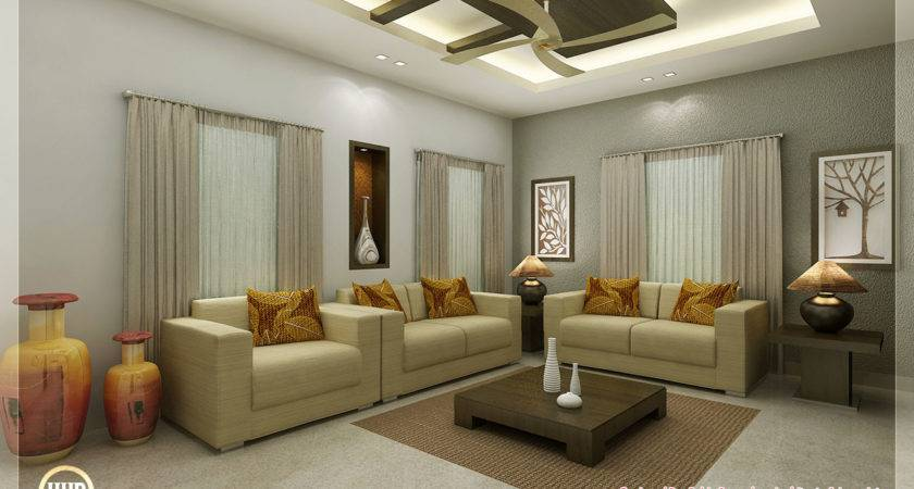 Awesome Interior Renderings Kerala House Design Idea