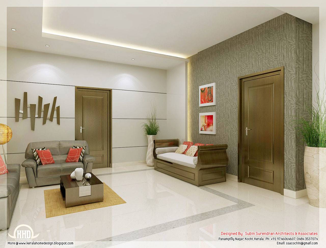 Awesome Interior Renderings Kerala House Design Barb Homes