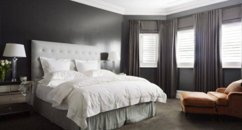 Awesome Large Master Bedroom Grey Headboard Rug