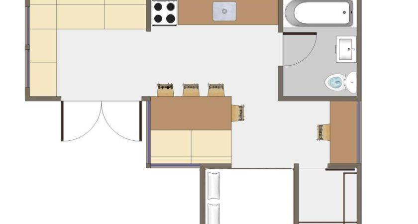 Awesome Modern Style Shape Usonian Kitchen Floor Plans