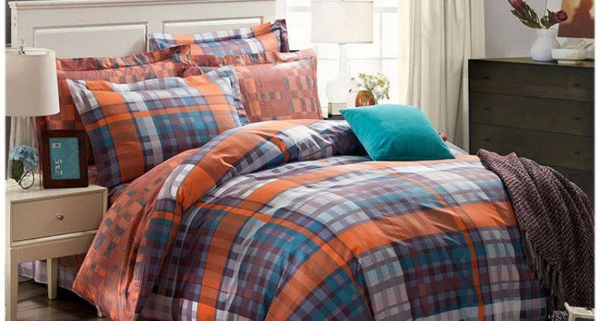 Awesome Uncategorized Orange Grey Comforter Pertaining