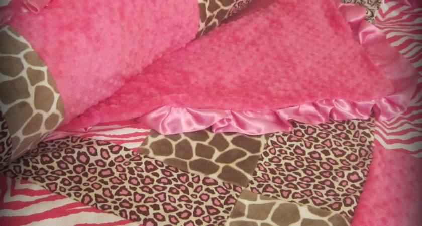 Baby Bedding Pink Brown Animal Print Crib Set