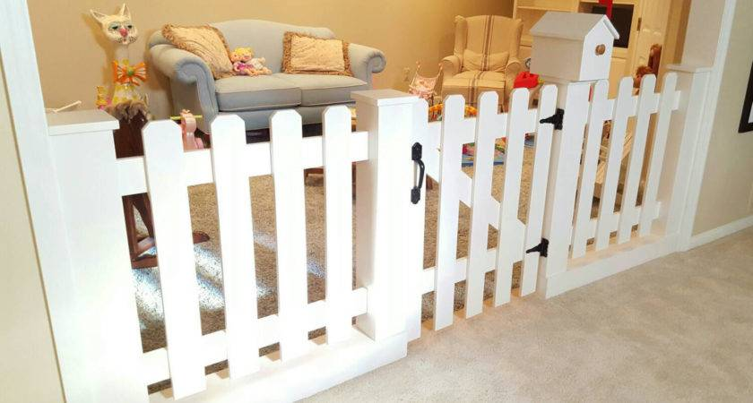 Baby Gate Playroom Picket Fence Room Divider