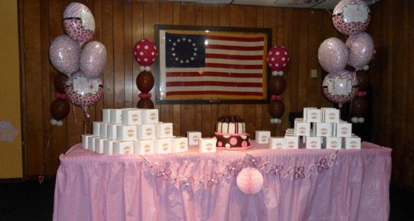 Baby Shower Helium Balloons Brown Pink White