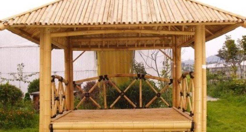 Bamboo Gazebo Pavilion House Pergola Patio