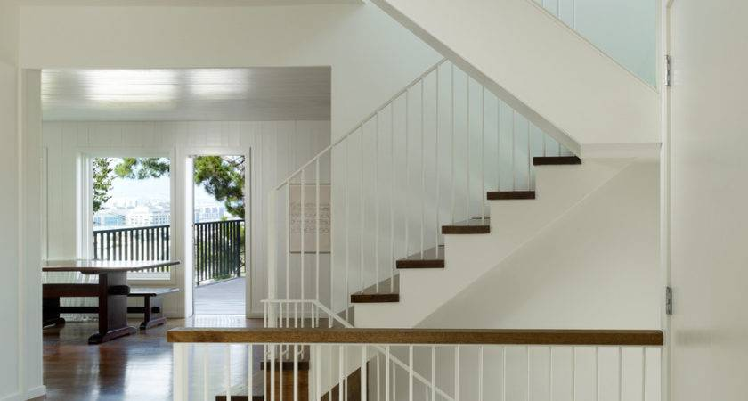 Banisters Staircase Transitional Open Floor Plan