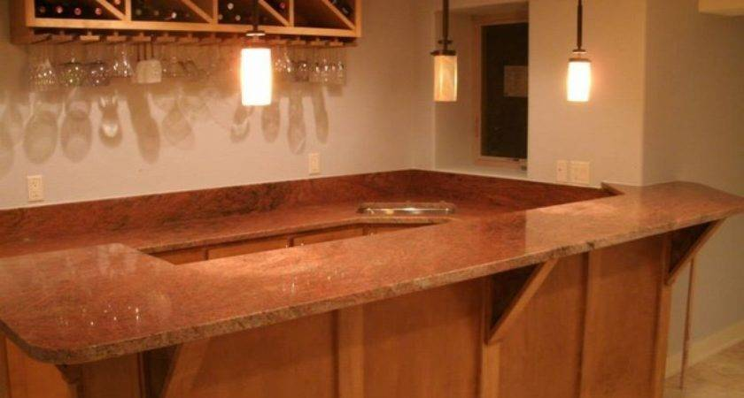 Bar Countertops Other Traditional Basement