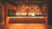 Bar Face Wood Slat Wall Panels Projecting Rail Style