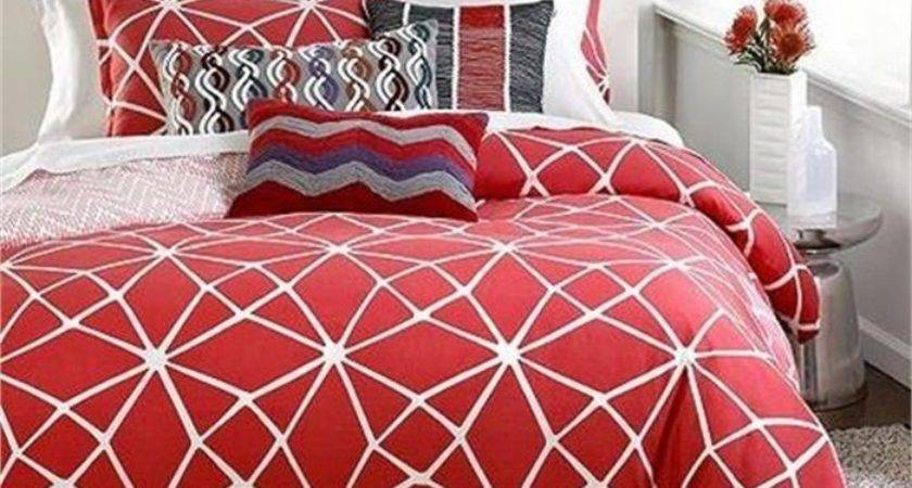 Bar Iii Bedding Marquee King Comforter Set White Coral
