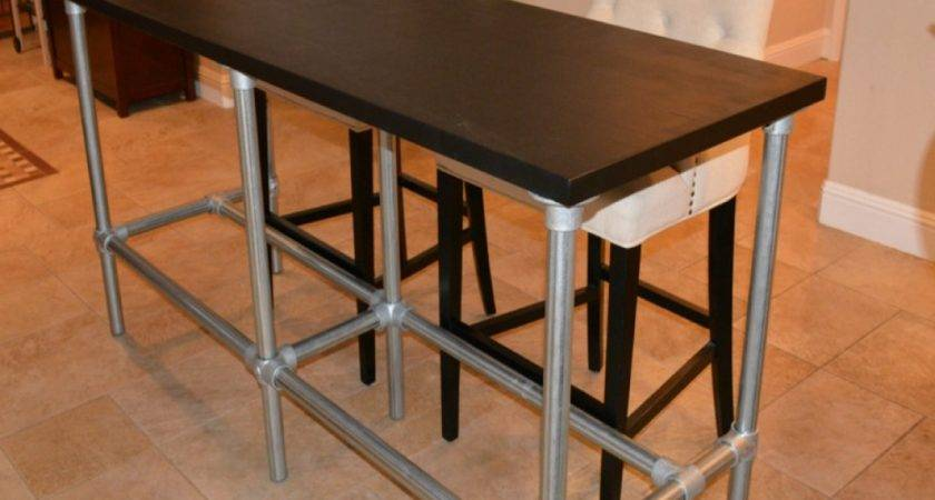Bar Table Height Diy Counter Pipe Legs