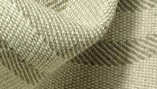Basketweave Upholstery Linen Flax Fabric French Stripe Natural