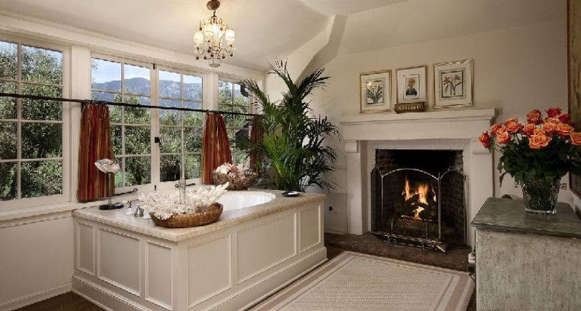 Bathroom Fireplace Hooked Houses