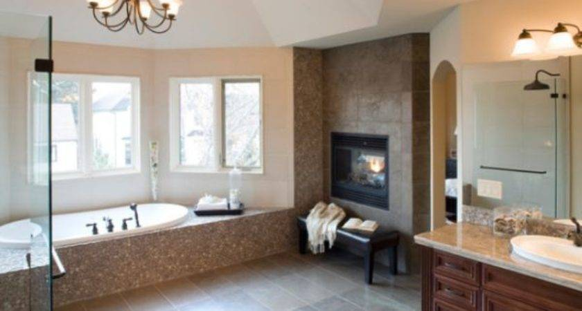 Bathroom Fireplaces Luxurious Welcomed Accent Feature