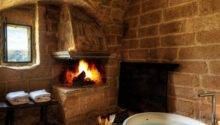 Bathroom Fireplaces Make Any Bath Wow Therapy