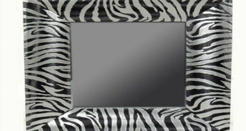 Bathroom Mirror Decor Brown Zebra Print