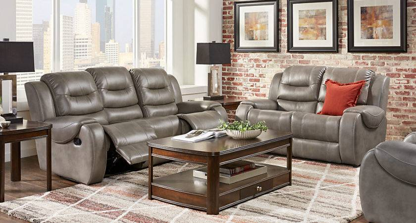 Baycliffe Smoke Living Room Sets Gray