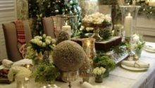 Beautiful Christmas Decor Home Dining Room Table
