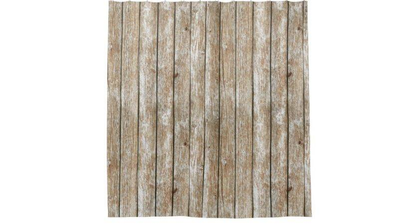 Beautiful Country Shabby Chic Rustic Wood Shower Curtain